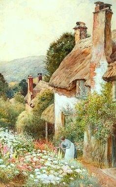 Cottages Near Minehead ~ Ernest Walbourn