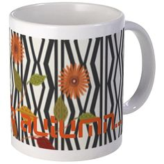 Custom Art Deco Autumn Floral Patterned.Patterns overload! Custom text! Pretty gift!