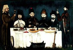 Niko Pirosmani - The feast of Kupreishvili family. WikiArt.org