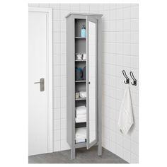 IKEA - HEMNES High cabinet with mirror door gray