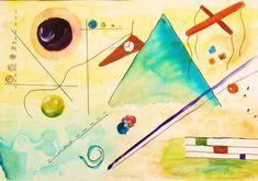 Arte e História: Wassily Kandinsky Wassily Kandinsky, Principles Of Art Balance, Balance Art, Van Gogh, Monet, History Of Modern Art, Abstract Words, Abstract Paintings, Abstract Art