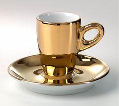 Walkuere gold espresso cup