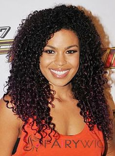 Wholesale Silk Top Medium Curly Black African American Wigs for Women