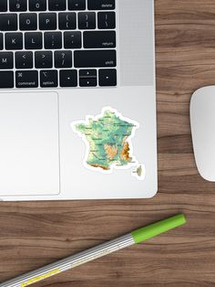 """topographic map of FRANCE with Major cities and Rivers Biscay Green background physical relief map of France"" Sticker by mashmosh France Map, Topographic Map, Background S, Green Backgrounds, Rivers, Physics, Cities, Stickers, Prints"