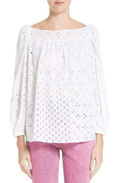 MARC JACOBS Broderie Anglaise Blouse. #marcjacobs #cloth #