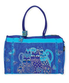 Take a look at this Indigo Cats Weekender by Laurel Burch on #zulily today!