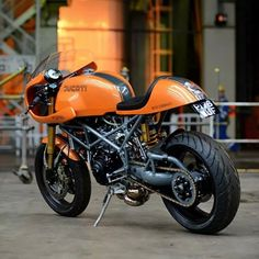 nice Ducati in Orange Black