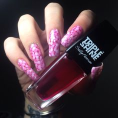 Polished Inka - Pink Pond Nail Art