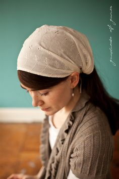 ORTHODOX JEWISH WOMEN HEADBANDS | Simple scarf that allows some hair to be seen but protects the crown ...