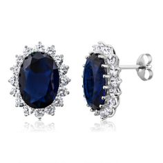 Total carat weight: 15,00 ctw     Main Stone: Oval Blue Simulated Sapphire Metal Type: solid 925 sterling silver   Weight: 6.00 gram Dimensions: 20x15mm