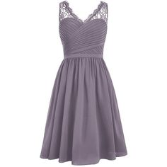 Dresstells Short Homecoming Dress V-neck Ruched Chiffon Bridesmaid... (6580 RSD) ❤ liked on Polyvore featuring dresses, purple homecoming dresses, short bridesmaid dresses, purple chiffon dress, purple cocktail dresses and cocktail prom dress