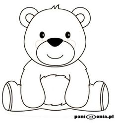 - Her Crochet Bear Coloring Pages, Coloring Sheets For Kids, Coloring Books, Cute Bear Drawings, Easy Drawings, Teddy Bear Drawing Easy, Teddy Bear Outline, Bear Songs, Teddy Bear Pictures