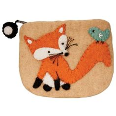 Felt Coin Purse Fox