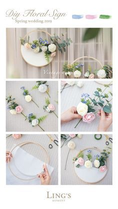 Decoration Evenementielle, Flower Decorations, Wedding Decorations, Felt Flowers, Diy Flowers, Paper Flowers, Diy Crafts To Sell, Diy Crafts For Kids, Embroidery Hoop Decor