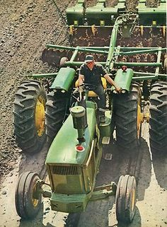 John Deere Tractor Disk and Planting