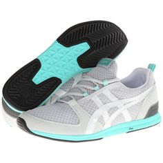 Onitsuka Tiger by Asics Ult-Racer Women's Shoes ($56) ❤ liked on Polyvore featuring shoes, athletic shoes, grey, running shoes, mesh running shoes, laced shoes, lace up shoes and cushioned running shoes