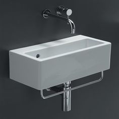 Bissonnet 20140 Area Boutique Ice 50 Wall Mount Bathroom Sink, White