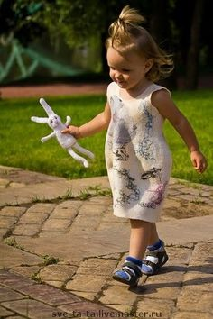 felted dress for girl