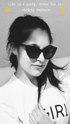 #Cateye #audreyhepburn #zitate #schwarzweiß #sonnenbrille #fashion #fairemarke #lemiel #bambussonnenbrille Audrey Hepburn, Star Wars, Wayfarer, Sunglasses Women, Videos, Life, Style, Good Deeds, Sunglasses