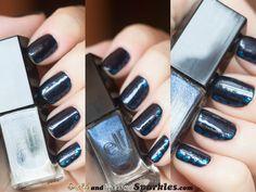 e.l.f. Dark Navy #bloggers #bbloggers #nails #nailpolish #dark #navy Dark Navy, My Nails, Swatch, Nail Designs, Hair Beauty, Nail Polish, Sparkle, Autumn, Fall Season