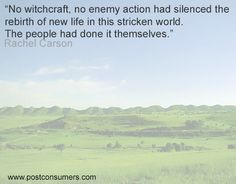 Rachel Carson Quote: Witchcraft not Enemy Action - Postconsumers Earth Day Quotes, Green Quotes, Rachel Carson, Motivational, Inspirational Quotes, Save The Planet, Mother Earth, Witchcraft, Favorite Quotes