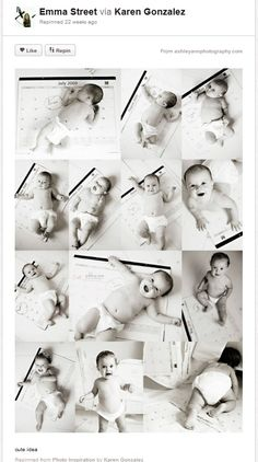 Month by month baby poses