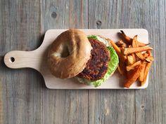 Pumpkin Burger #plantbased #vegan #organic #veggiepatty My Recipes, Vegan Recipes, Sweet Potato, Veggies, Pumpkin, Organic, Food, Pumpkins, Essen