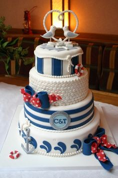If I marry a rich guy on his yacht....This is the cake I want!!! ~Bev