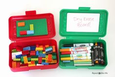 DIY Lego and Art Travel Boxes - Repeat Crafter Me