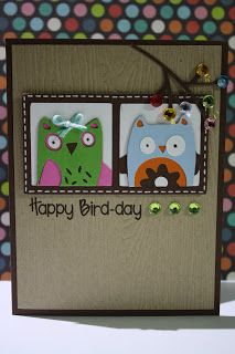 redheaded crafter: Happy Bird-day Card Hoot 'n' Holler