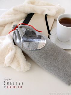 Upcycled Sweater to Heating Pad via homework - carolynshomework (5)