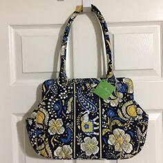 755141372 My Vera Bradley Frame Bag Ellie Blue by Vera Bradley! Size for $$56.00.