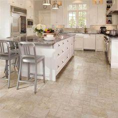 Bon Beige #tile Floor For #kitchen Design. Bordeaux Marron By American Olean.