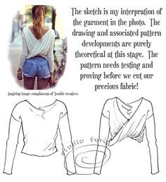 Twist Jumper Pattern Making Instructions.