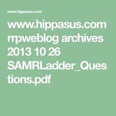 www.hippasus.com rrpweblog archives 2013 10 26 SAMRLadder_Questions.pdf Technology Integration, Assessment, Archive, Pdf, Math Equations, Teaching, Education, Business Valuation, Onderwijs