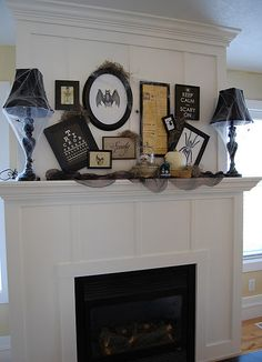 Great Halloween fireplace, although that's pretty much what all of my frames look like when I hang them up.