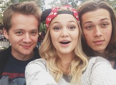 Photos: Olivia Holt With Leo Howard And Jason Earles At Disneyland November 29, 2013