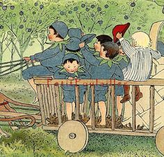 1923 Antique Elsa Beskow.  From Peter in Blueberry Land.