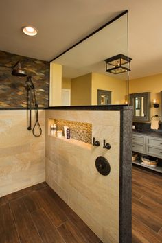Master Bathroom Shower, Bathroom Renos, Bathroom Ideas, Shower Ideas, Bathroom Cabinets, Bathroom Shower Designs, Walk In Bathroom Showers, Shower Walls, Bath Shower