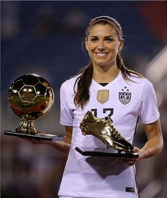 Alex Morgan, winner of the golden boot and golden ball awards in the first SheBelieves Cup, March 9, 2016.