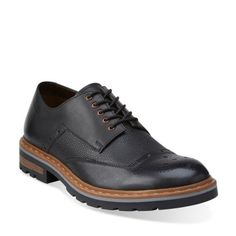 Dargo Limit Black Combi Leather - Clarks Mens Shoes - Lace-ups and Slip-ons - Clarks - Clarks