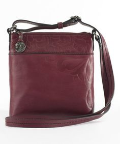 Another great find on #zulily! Alexys Embossed Leather Crossbody Bag by Jim Shore #zulilyfinds