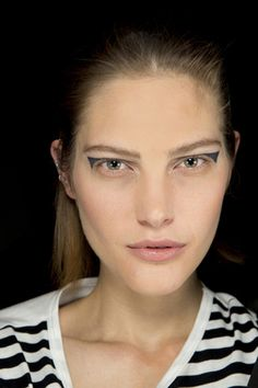 Spring/Summer 2014: Beauty Trends, Tom Pecheux does punk graphic eyeliner for Anthony Vaccarello SS14