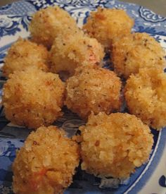 Crab Risotto Balls by Paula Deen, saw these on the Today show great for NYE or cocktail party