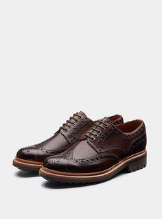 6d34411ad99 Grenson - Dark Brown Archie Commando Shoes