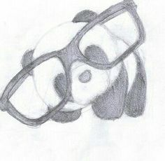 Niedlicher Panda mit Brille – – Ideen fürs zeich Cute panda with glasses – – Ideas for drawing … – Cute Drawings Tumblr, Cute Sketches, Cute Easy Drawings, Art Drawings Sketches Simple, Cute Animal Drawings, Pencil Art Drawings, Cartoon Drawings, Drawing Ideas, Easy Drawings Of Animals