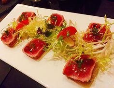 #healthy#tuna#tataki#lightly#seared#potato#sliced#piquillopeppers#sauce#salad#foodie#hkfoodies#FoodieHK#instafood#foodstagran#foodporn#foodgasm#LoveEating#FoodPhoto#FoodBlog#FoodBlogger#Foodhunt#gourmet#hkig#CWB#MiraMoon#supergiant#Spanish#tapasbar by foodiecathcath