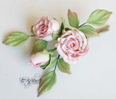 цветы из шелка роза