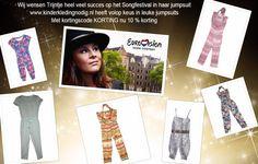 Wij wensen Trijntje heel veel succes op het Songfestival in haar jumpsuit. www.kinderkledingnodig.nl heeft een leuke en betaalbare collectie jumpsuits. Met kortingscode KORTING nu 10 % korting. https://www.kinderkledingnodig.nl/30-broeken-jeans-jumpsuits
