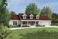 Country Plan: 1,310 Square Feet, 3 Bedrooms, 2 Bathrooms - 5633-00144